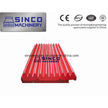 Backenplatte für hohe Manganzerkleinerungsteile