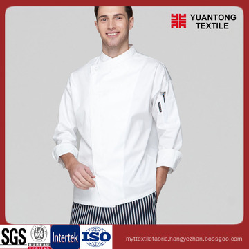 Bleached Polyester/Cotton Chef Fabric