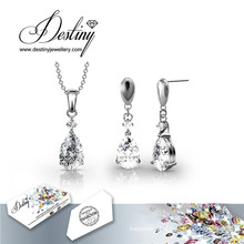 Destiny Jewellery Crystal From Swarovski Hanging Crystal Set Pendant and Earrings