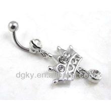 body piercing navel ring crown belly piercing