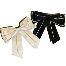New Fabric Pearl Solid Big Hair Barrettes Bow Knot Fashion Accessories Hairpin Korean Luxury Spring Clip