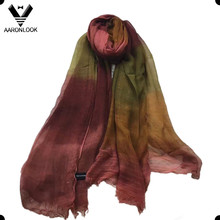 2016 Stylish Retro Color Change 100%Modal Tie Dyed Scarf