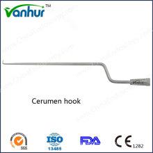 Instruments d'otoscopie Crochet de cire cérumen-crochet / oreille courbé