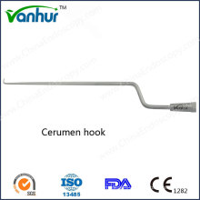 Otoscopy Instruments Curved Cerumen-Hook/ Ear Wax Hook