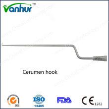 Инструменты для отоскопии Изогнутый крючок-крючок / крючок для ушей