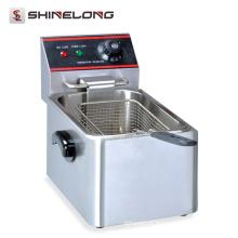 Multifuncional com certificado CE Máquina de fritadeira elétrica de 1 tanque e 1 cesta