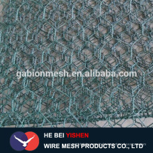 Gabion wire basket for stone retaining wall