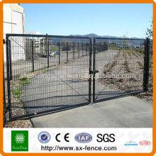 Projeto pintado do portão do ferro do PVC, portão da porta projeta