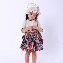 Short Sleeve Floral Dress for Girl 2-10 Year