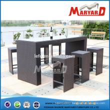 Rattan Garden Bar Furniture Set with 1PCS Bar Table and 6PCS Barstool