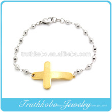 Schmucksache-Mustergoldbibelcharme der hohen Qualität glüht religiöser Edelstahlmänner Armbandarmbänder