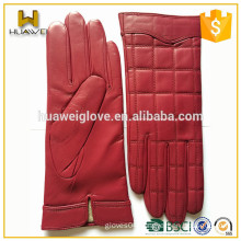 Cheap Colorful Premium Real Leather Ladies Fashion Sheepskin Gloves Red