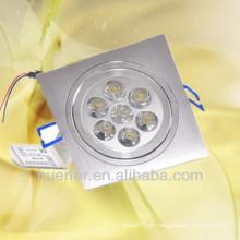 Heißer Verkauf führte downlight fluoreszierende Beleuchtung 7w 6063 Aluminiumbeleuchtung im Porzellan