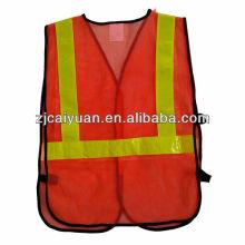 hi-visible reflective safety mesh vest