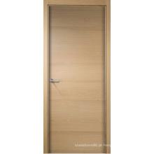 A porta de madeira rústica da entrada do projeto do amor perfeito projetou a porta exterior folheada