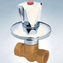 Valve de douche en laiton avec bride en acier inoxydable et bouton de Zinc
