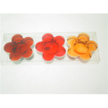 Clear Flower-Shaped Glass Tealight Holder Wtih PVC Box for Autumn (DGH8.6-8-3)