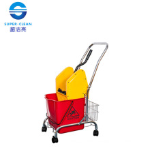 Down-Press Single Mop Wringer Trolley