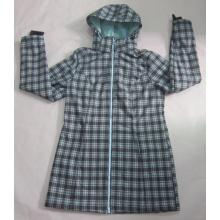 Yj-1073 Femmes Femmes Vertes Imperméables Imperméables à capuche Chaussures à capuche à capuche