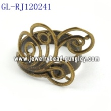 Lead free copper jewelry ring base