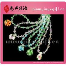Кристалл кулон ожерелье