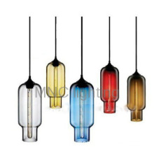 new modern billiard bar colorful glass pendant lights