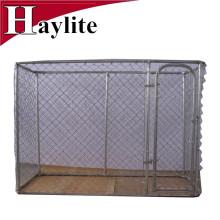 Perrera de perro al aire libre grande galvanizada en baño caliente del metal para la venta
