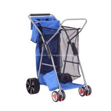 Carro de carretilla plegable plegable de pesca duradera con bolsa de asas