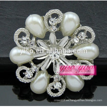 Broche del diamante del diseño de la flor de la manera