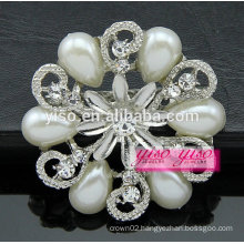 fashion flower design diamond brooch