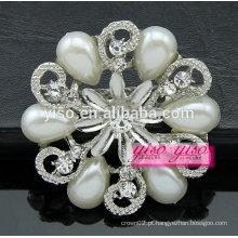 Broche de diamante de design de flores de moda