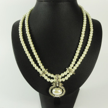 Elegant Pearl Nacklace with Pearl Pendant