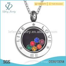 Hot venda rodada jóias pingente, pingentes de amor, design pingentes
