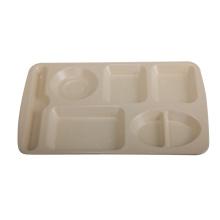 Bamboo Fiber Six-Cell Dish/ Bamboo Fiber Tray