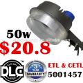 DLC ETL 5 años de garantía precio más bajo de fábrica 130lm / w llevó el sensor de luz solar fotoeléctrica led anochecer al amanecer llevó la luz del patio