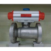 Válvula de bola de acero forjado bridada neumática de 1 pieza