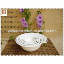 Different size white porcelain big soup bowl