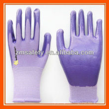 Nylon Knitted Garden Work Nitrile Coated Gloves ZMR778