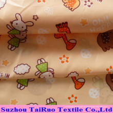 Pongé imperméable imprimé par polyester avec le revêtement pour le tissu de vêtement