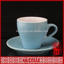 Hot new and hight quality products ceramic black and white tea cup and saucer