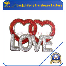 Love Glitter Valentine Day Gifts Badge