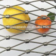 Stainless steel knotted aviary netting poultry netting zoo animal rope mesh