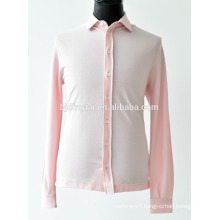 men pink color knitted shirt