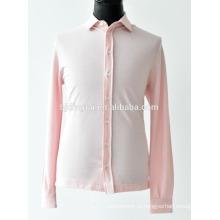 мужчины розовый цвет трикотажные рубашки