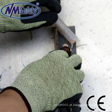 Luvas de mão anti-corte luvas revestidas com nitrilo NMSAFETY