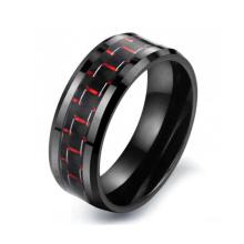 Paare Schmuck, koreanischer Kohlenstoff-Faser-Keramik-Ring Schmuck