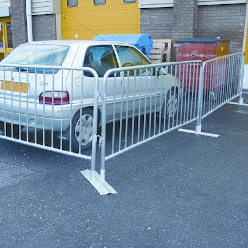 powder coated crowd barrier