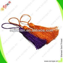 Borla de nylon naranja borla decorativa del bolso del regalo de la cortina del bolso de la ropa