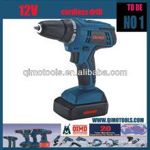 Herramientas eléctricas profesionales QIMO QM1007B 12V Taladro inalámbrico de dos velocidades