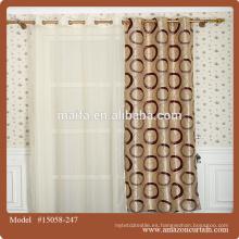 Tela de la cortina del telar jacquar de 100% para la tela al por mayor / barata de la cortina de la ventana